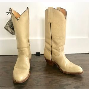 FRYE cowboy western BOOTS campus VINTAGE pull on